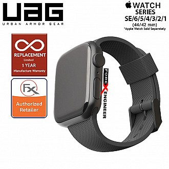 UAG Silicone Strap for Apple Watch 44mm / 42mm Compatible for Series SE / 6 / 5 / 4 / 3 / 2 / 1 - Black (Barcode : 812451036305 )