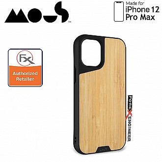 """Mous Limitless 3.0 for iPhone 12 Pro Max 5G 6.7"""" - Air Shock High Impact Material Case -  Bamboo (Barcode : 5060624483936 )"""