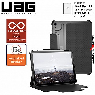 "UAG [U] Lucent for iPad Air 10.9"" (2020) / iPad Pro 11 2020 (2nd Gen) - Black/Ice Color (Barcode : 812451038262 )"