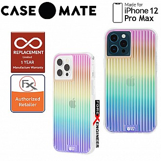 """Case Mate Tough Groove for iPhone 12 Pro Max 5G 6.7"""" - Irisdescent with MicroPel (Barcode: 846127195843 )"""