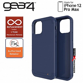 """Gear4 Wembley Palette for iPhone 12 Pro Max 5G 6.7"""" - D3O Material Technology & Drop Resistant Up to 4 meters - Navy Blue (Barcode : 840056128187 )"""