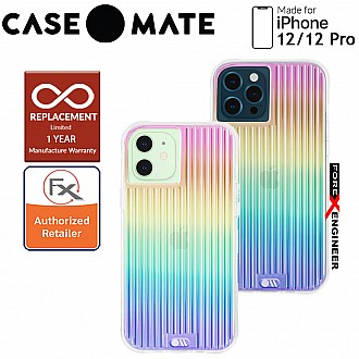 """Case Mate Tough Groove with MicroPel for iPhone 12 / 12 Pro  5G 6.1"""" - Irisdescent (Barcode: 846127196192 )"""