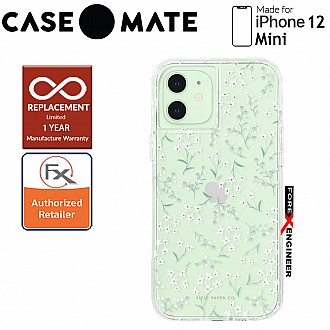 """Case Mate Rifle Paper Co. for iPhone 12 Mini 5G 5.4"""" - Embellished Petite Fleurs with MicroPel (Barcode: 846127197267 )"""