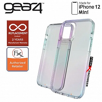 """Gear4 Crystal Palace for iPhone 12 Mini  5G 5.4"""" - D3O Material Technology - Drop Resistant Up to 4 meters (Iridescent) (Barcode : 840056127890 )"""