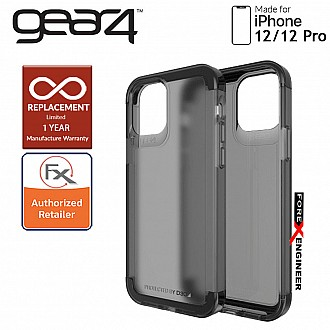 """Gear4 Wembley Palette for iPhone 12 / 12 Pro 5G 6.1"""" - D3O Material Technology & Drop Resistant Up to 4 meters - Smoke (Barcode : 840056127951 )"""