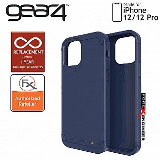 """Gear4 Wembley Palette for iPhone 12 / 12 Pro 5G 6.1"""" - D3O Material Technology & Drop Resistant Up to 4 meters - Navy Blue (Barcode : 840056127968 )"""