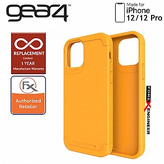 """Gear4 Wembley Palette for iPhone 12 / 12 Pro 5G 6.1"""" - D3O Material Technology & Drop Resistant Up to 4 meters - Saffron Yellow (Barcode : 840056129191 )"""