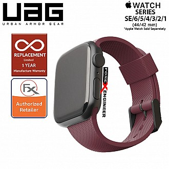 UAG Silicone Strap for Apple Watch 44mm / 42mm Compatible for Series SE / 6 / 5 / 4 / 3 / 2 / 1 - Aubergine (Barcode : 812451036312 )