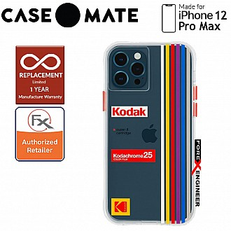 """Case Mate KODAK with MicroPel for iPhone 12 Pro Max 5G 6.7"""" - White Kodachrome Super 8 (Barcode: 840171700374 )"""
