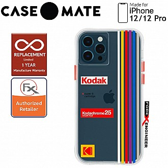 """Case Mate KODAK with MicroPel for iPhone 12 / 12 Pro 5G 6.1"""" - White Kodachrome Super 8 (Barcode: 840171700411 )"""