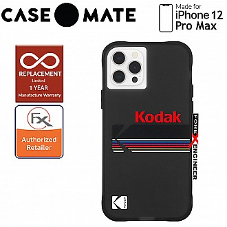 """Case Mate KODAK with MicroPel for iPhone 12 Pro Max 5G 6.7"""" - Matte Black + Shiny Black Logo (Barcode: 840171700398 )"""