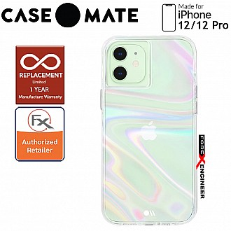 """Case Mate Soap Bubble with MicroPel for iPhone 12 / 12 Pro 5G 6.1"""" (Barcode: 846127196147 )"""