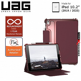 """UAG [U] Lucent for iPad 10.2"""" (2020) / 10.2 inch 7th Gen ( 2019 )  - Aubergine/Dusty Rose Color (Barcode : 812451037852 )"""