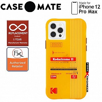"""Case Mate KODAK with MicroPel for iPhone 12 Pro Max 5G 6.7"""" - Vintage Yellow (Barcode: 840171700381 )"""