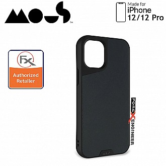 """Mous Limitless 3.0 for iPhone 12 / 12 Pro 5G 6.1"""" - Air Shock High Impact Material Case -  Black Leather (Barcode : 5060624483899 )"""