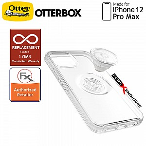 """OTTER + POP Symmetry Clear for iPhone 12 Pro Max 5G 6.7"""" - Clear (Barcode : 840104220054 )"""