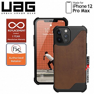 "UAG Metropolis LT for iPhone 12 Pro Max 5G 6.7"" - ( Leather Brown )  ( Barcode : 812451037371 )"