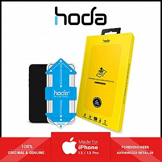 """Hoda Tempered Glass for iPhone 13 / 13 Pro 6.1"""" 5G ( 2.5D 0.33mm Full Coverage ) - with Helper - Clear (Barcode: 4711103541890 )"""