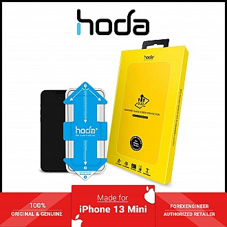 """Hoda Tempered Glass for iPhone 13 Mini 5.4"""" 5G ( 2.5D 0.33mm Full Coverage ) - with Helper - Clear (Barcode: 4711103541883 )"""