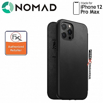 Nomad Rugged Folio Case for iPhone 12 Pro Max - Black ( Barcode : 856500019147 )