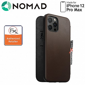 Nomad Rugged Folio Case for iPhone 12 Pro Max - Rustic Brown ( Barcode : 856500019178 )