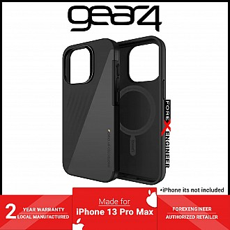 """Gear4 Brooklyn Snap for iPhone 13 Pro Max 6.7"""" 5G - MagSafe Compatible - Black (Barcode: 840056146822 )"""