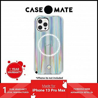 """Case-Mate LuMee Halo for iPhone 13 Pro Max 6.7"""" 5G with Antimicrobial - Holographic Paris Hilton Edition (Barcode: 840171706390 )"""