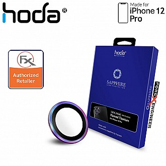 Hoda Sapphire Lens Protector for iPhone 12 Pro - 3 pcs - Flamed Titanium (Barcode : 4713381518663 )