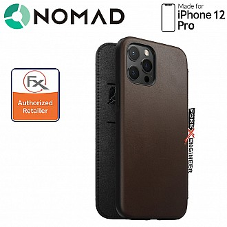 Nomad Rugged Folio Case for iPhone 12 Pro - Rustic Brown ( Barcode : 856500019161 )