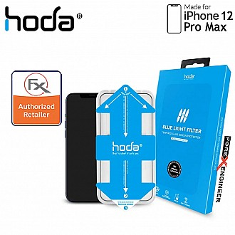 """Hoda Tempered Glass for iPhone 12 Pro Max (6.7"""") - 2.5D 0.33mm Full Coverage Tempered Glass with Helper - Blue Light Filter (Barcode : 4713381519264 )"""