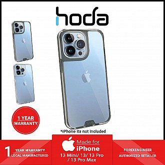 """Hoda Crystal Pro Glass Case for iPhone 13 6.1"""" 5G - Military Standard Case - Clear Black (Barcode: 4711103541593 )"""