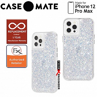 """Case Mate Twinkle for iPhone 12 Pro Max 5G 6.7"""" - Stardust with MicroPel (Barcode: 846127195850)"""