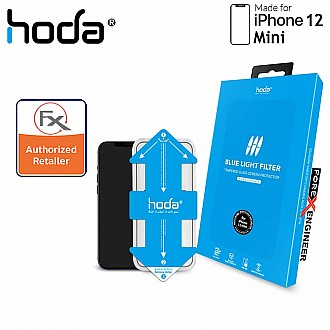 """Hoda Tempered Glass for iPhone 12 Mini (5.4"""") - 2.5D 0.33mm Full Coverage Tempered Glass with Helper - Blue Light Filter (Barcode : 4713381519240 )"""