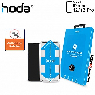 """Hoda Tempered Glass for iPhone 12 / 12 Pro (6.1"""") - 2.5D 0.33mm Full Coverage Tempered Glass with Helper - Blue Light Filter (Barcode : 4713381519257 )"""