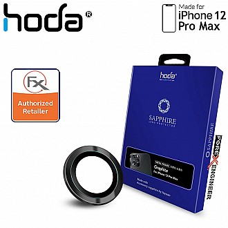 Hoda Sapphire Lens Protector for iPhone 12 Pro Max - 3 pcs - Graphite (Barcode : 4713381519820 )