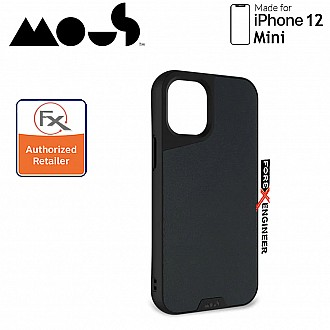 """Mous Limitless 3.0 for iPhone 12 Mini 5G 5.4"""" - Air Shock High Impact Material Case -  Black Leather (Barcode : 5060624483844 )"""