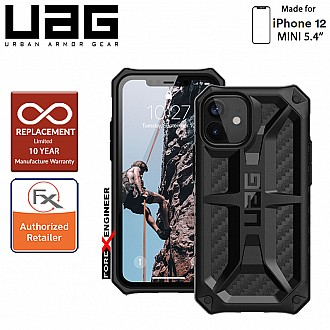"UAG Monarch for iPhone 12 Mini 5G 5.4""  - Rugged Military Drop Tested - ( Carbon Fibre ) ( Barcode : 812451035957 )"