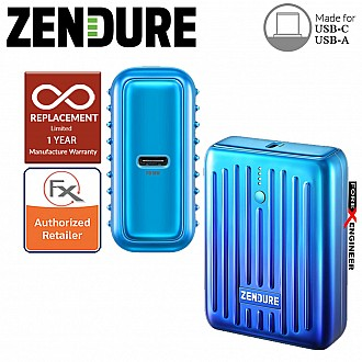 Zendure SuperMini - 10,000 mAh Credit Card Sized Portable Charger with PD ( Ombre Blue ) ( Barcode : 850006872220 )