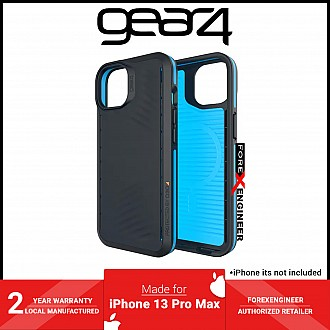 """Gear4 Vancouver Snap for iPhone 13 Pro Max 6.7"""" - MagSafe Compatible - Black / Blue (Barcode: 840056146792 )"""