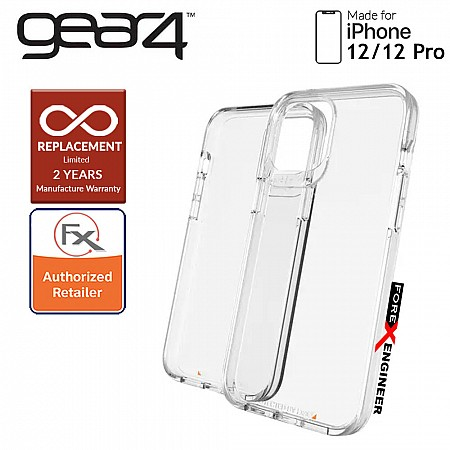 """Gear4 Crystal Palace for iPhone 12 / 12 Pro  5G 6.1"""" - D3O Material Technology - Drop Resistant Up to 4 meters (Clear) (Barcode : 840056127999 )"""