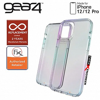 """Gear4 Crystal Palace for iPhone 12 / 12 Pro  5G 6.1"""" - D3O Material Technology - Drop Resistant Up to 4 meters (Iridescent) (Barcode : 840056128002 )"""