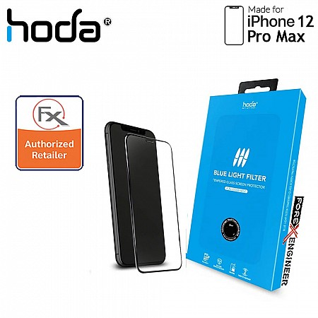 """Hoda Tempered Glass for iPhone 12 Pro Max 6.7"""" - 2.5D 0.33mm Full Coverage Tempered Glass - Blue Light Filter (Barcode : 4713381518878 )"""