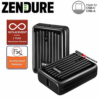 Zendure SuperMini - 10,000 mAh Credit Card Sized Portable Charger with PD ( Black ) ( Barcode : 850006872213 )