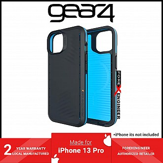 """Gear4 Vancouver Snap for iPhone 13 Pro 6.1"""" - MagSafe Compatible - Black / Blue (Barcode: 840056146785 )"""