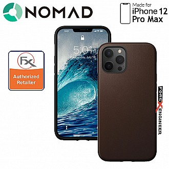 """Nomad Rugged Case for iPhone 12 Pro Max 6.7"""" ( Rustic Brown ) ( Barcode : 856500019253)"""
