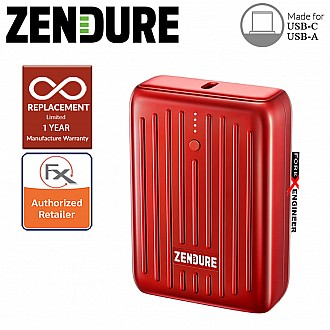 Zendure SuperMini - 10,000 mAh Credit Card Sized Portable Charger with PD ( Red ) ( Barcode : 850006872626 )