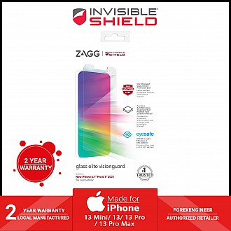 """InvisibleShield Glass Elite VisionGuard for iPhone 13 / 13 Pro 6.1"""" 5G - Case Friendly Screen (Barcode: 840056148895 )"""