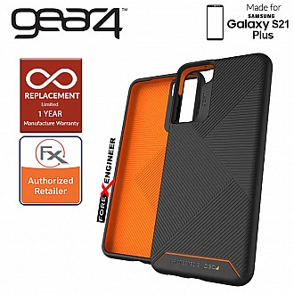 Gear4 Denali for Samsung Galaxy S21 Plus - D3O Material Technology - Drop Resistant Up to 4 meters - Black (Barcode : 840056108530 )
