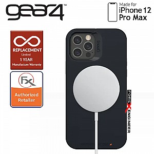 """Gear4 Rio Snap for iPhone 12 Pro Max 5G 6.7"""" - D3O Material Technology - Drop Resistant Up to 4 meters - Black (Barcode : 840056138179 )"""
