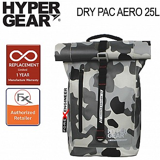Hypergear Dry Pac Aero 25L - Heavy-duty Design and IPX6 Waterproof Specification - Camo Grey Alpha ( Base Only Without Fast Slot E)